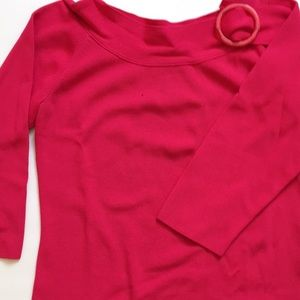Rafaella Pink Retro Top